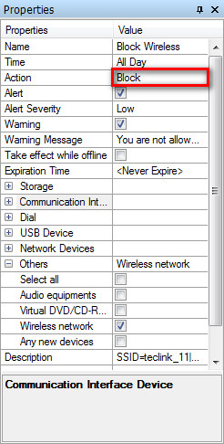 Properties of Device Policy