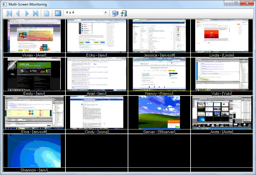 Example of Multi-Screen Monitoring