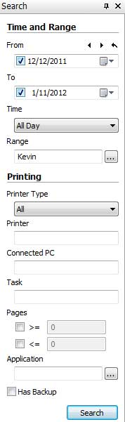 Search any printed files