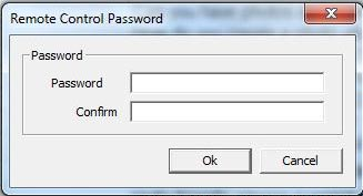 Remote Control Password Input