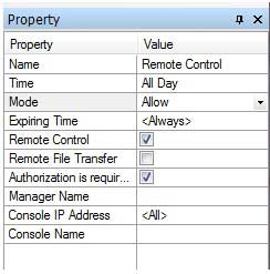 Remote Control Policy Property