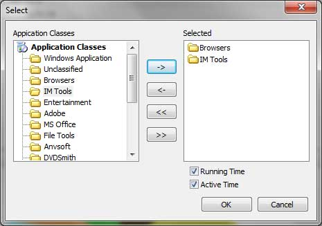 Select Application Classes You Created